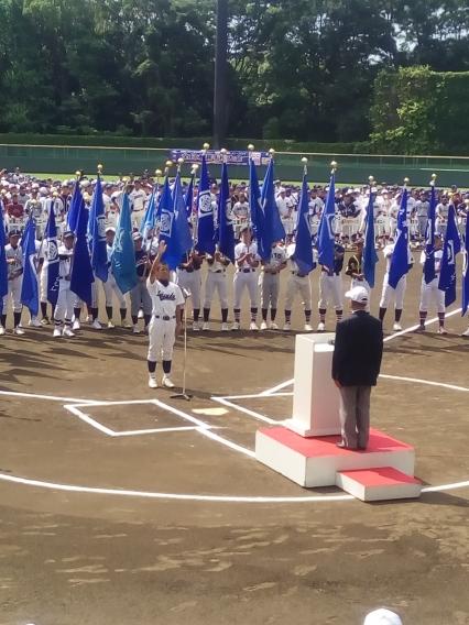 全日本選手権大会開会式で主将リュウセイが選手宣誓!